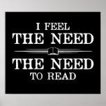 Siento la necesidad de leer poster
