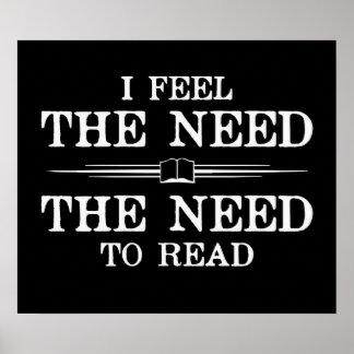Siento la necesidad de leer póster