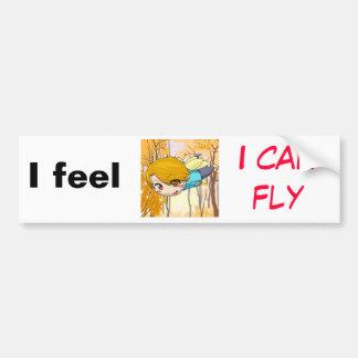 Siento que puedo volar pegatina para auto