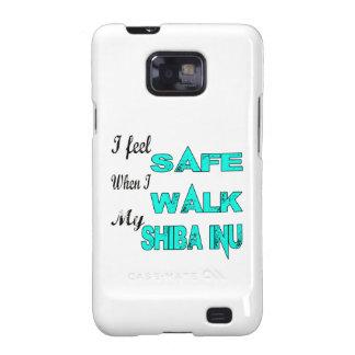 Siento seguro con mi Shiba Inu Samsung Galaxy S2 Funda
