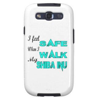 Siento seguro con mi Shiba Inu Galaxy S3 Fundas