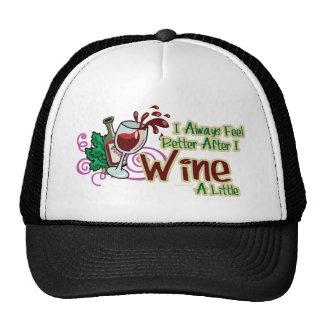 Siento siempre mejor después de que Wine un poco Gorros Bordados