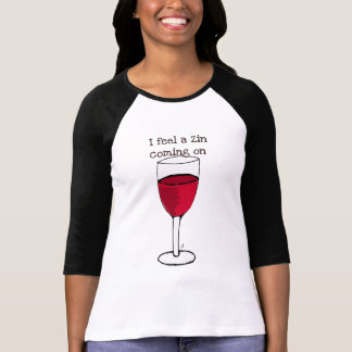 SIENTO UN ZIN el VENIR EN… la impresión del vino Tshirts