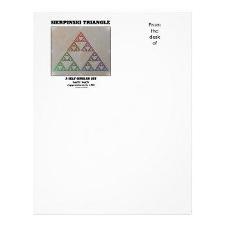 Sierpinski Triangle (Fractal Self-Similar Set) Letterhead Design