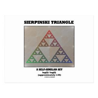 Sierpinski Triangle (Fractal Self-Similar Set) Postcard