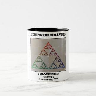 Sierpinski Triangle (Fractal Self-Similar Set) Two-Tone Coffee Mug