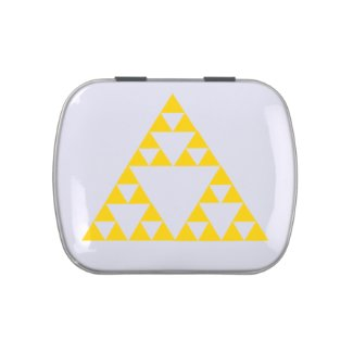 Sierpinski Triangle Jelly Belly Candy Tin