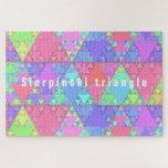 Sierpinski triangle - jigsaw puzzle