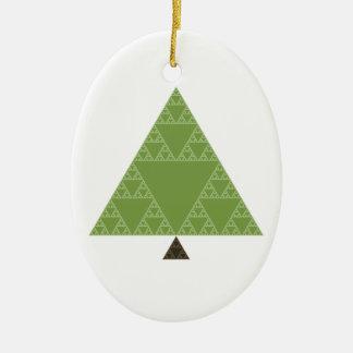 Sierpinski Triangle Tree Ceramic Ornament