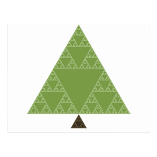 Sierpinski Triangle Tree Postcard