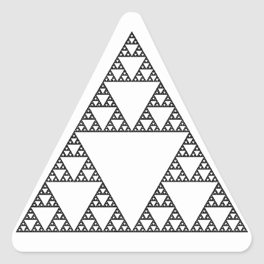 Sierpinski Triangle Triangle Sticker