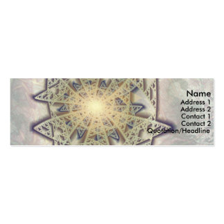 Sierpinsky Star Mini Business Card