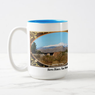 Sierra Blanca, New Mexico Scripture Mug