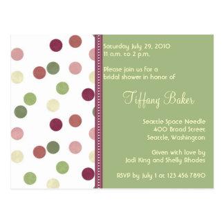 Sierra Bridal Shower Invitation Postcard