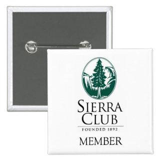 Sierra Club, MEMBER, MEMBER Pinback Button