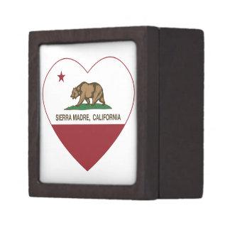 sierra corazón de la bandera de California del mad Caja De Regalo De Calidad