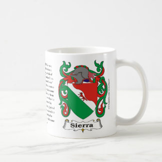 Sierra Family Coat of Arms Mug