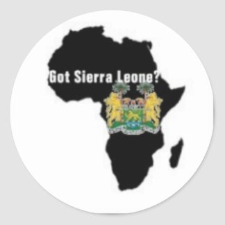 Sierra Leone (Africa) Flag T-shirt And Etc Classic Round Sticker