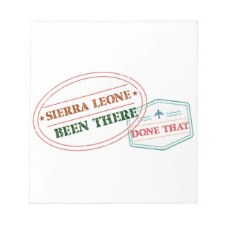Sierra Leone Been There Done That Notepad