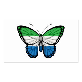 Sierra Leone Butterfly Flag Business Cards