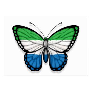 Sierra Leone Butterfly Flag Business Card Template