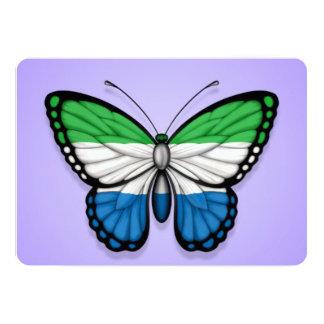Sierra Leone Butterfly Flag on Purple Card