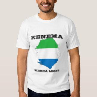 Sierra Leone, camiseta del mapa (Kenema) Camisas