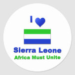 Sierra Leone Classic Round Sticker
