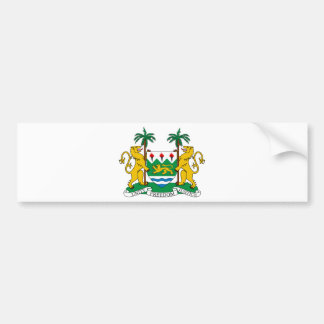Sierra Leone Coat of Arms Bumper Sticker