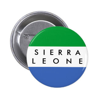 Sierra Leone country flag nation symbol name text Button