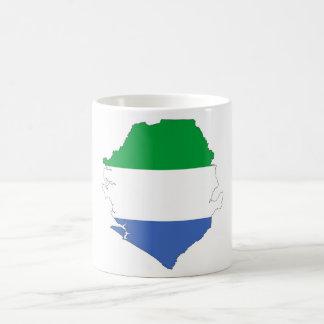 sierra leone country flag shape map symbol coffee mug