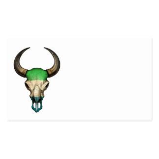 Sierra Leone Flag Bull Skull Business Card Templates