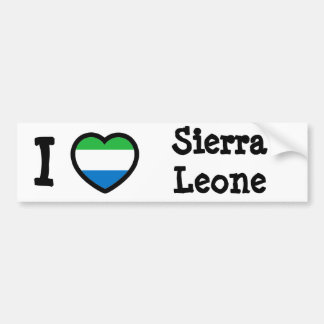 Sierra Leone Flag Car Bumper Sticker