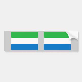 Sierra Leone Flag Bumper Sticker