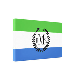 Sierra Leone Flag Canvas Print