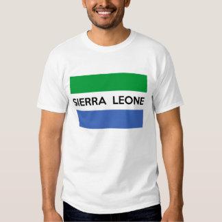 sierra leone flag country text name tshirt