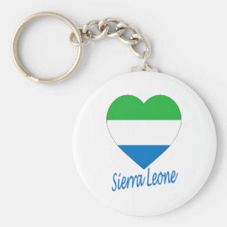 Sierra Leone Flag Heart Keychain