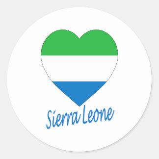Sierra Leone Flag Heart Stickers