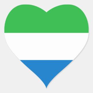 Sierra Leone Flag Heart Sticker