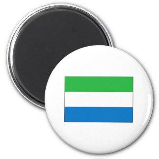 Sierra Leone FLAG International 2 Inch Round Magnet