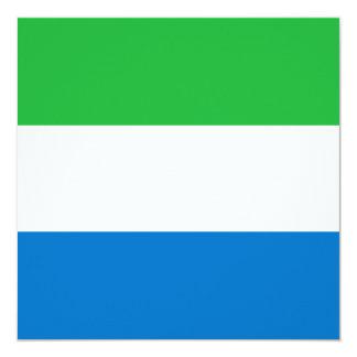 Sierra Leone Flag Invitation
