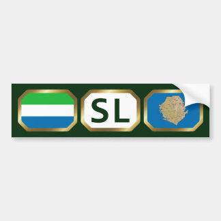 Sierra Leone Flag Map Code Bumper Sticker Car Bumper Sticker