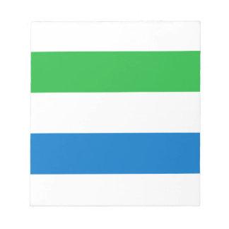 Sierra Leone Flag Notepad
