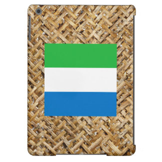 Sierra Leone Flag on Textile themed Cover For iPad Air