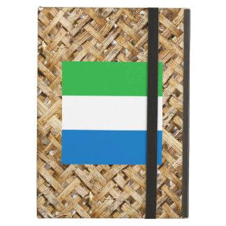 Sierra Leone Flag on Textile themed iPad Air Cases