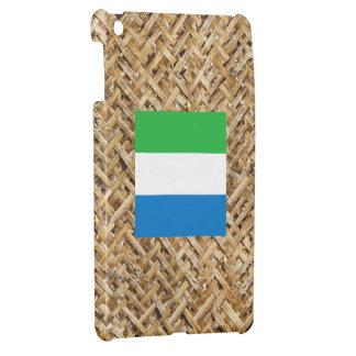 Sierra Leone Flag on Textile themed Case For The iPad Mini