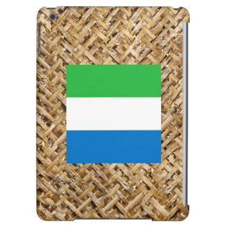 Sierra Leone Flag on Textile themed iPad Air Case