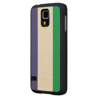 Sierra Leone Flag Carved® Maple Galaxy S5 Slim Case