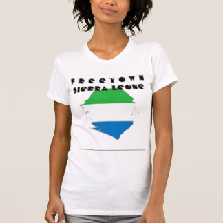 SIERRA LEONE(FREETOWN)MAP, T-SHIRT AND ETC