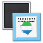 SIERRA LEONE(FREETOWN)MAP, T-SHIRT AND ETC MAGNETS